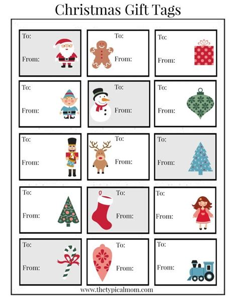 printable christmas labels  christmas