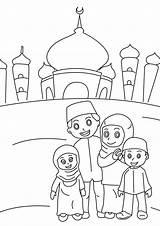 Coloring Pages Kaba Islamic Printable Getcolorings Ramadan Activities sketch template