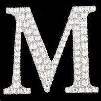 crystal  sticker rhinestone letters silver glitter