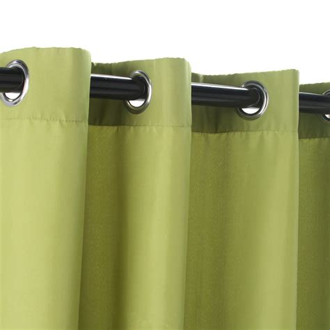 green polyester outdoor curtains with grommets dfohome