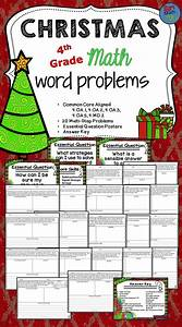 Christmas Math Word Problems Fourth Grade Multi