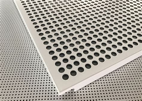 fireproof acoustic aluminum perforated ceiling panel  decoration
