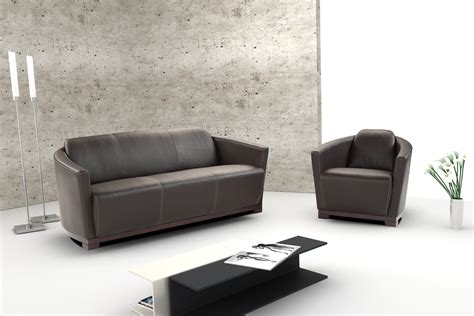 Modern Leather Furniture by Hotel Leather Sofa Set
