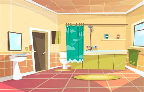 cartoon bathroom door vector cartoon bathroom interior