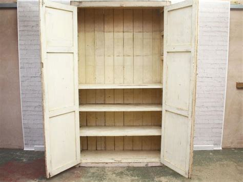 Cotton Cupboard by A Late 19th Century Painted Cotton Mill Linen Cupboard