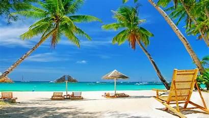 Beach Scene Desktop Tropical Backgrounds Computer Wallpapers