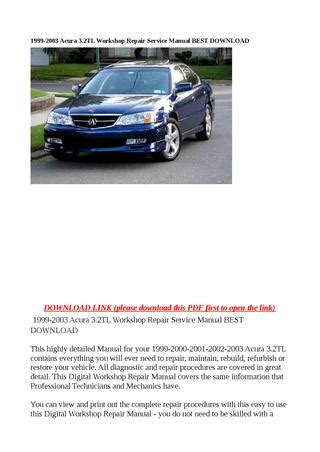how to download repair manuals 2003 acura cl interior lighting 1999 2003 acura 3 2tl workshop repair service manual best download by abcdeefr issuu