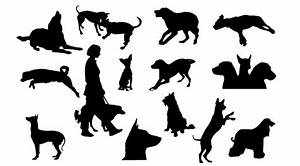 Dog silhouettes - Free Vector Site   Download Free Vector ...