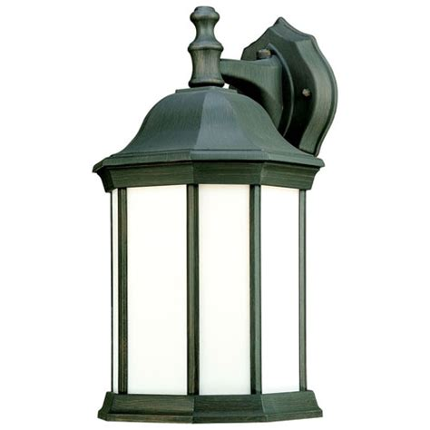 hawthorne one light outdoor wall lantern in painted bronze