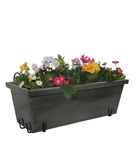 Halterungen Für Blumenkästen by Balkonkasten Anthrazit Mit Halterung Im Greenbop