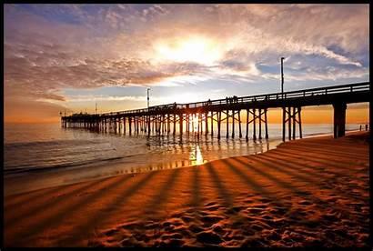 Newport Pier Balboa Dunes Shadows California Sun
