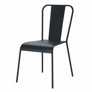Chaise Jardin Maison Du Monde : chaise indus en m tal noire factory maisons du monde ~ Premium-room.com Idées de Décoration