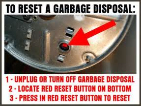 how do you reset a garbage disposal us4