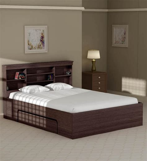 Bed Size by Buy Toya Size Bed With Drawer Storage In Walnut