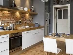 Idée Aménagement Petite Cuisine : id e relooking cuisine jolie cuisine americaine ~ Dailycaller-alerts.com Idées de Décoration
