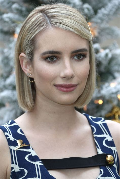 Emma Roberts' New Brunette Bob Proves That The Star Can ...