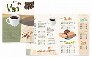 coffee shop menu template word publisher With microsoft publisher menu templates free