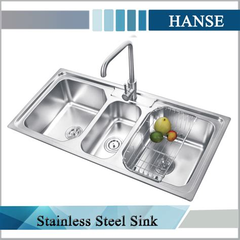 3 compartment kitchen sink k e10850tb stainless steel triple sink 3 compartment