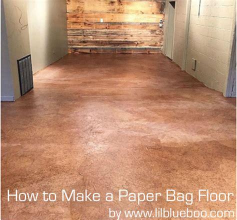 How to Make a Paper Bag Floor - DIY Instructions