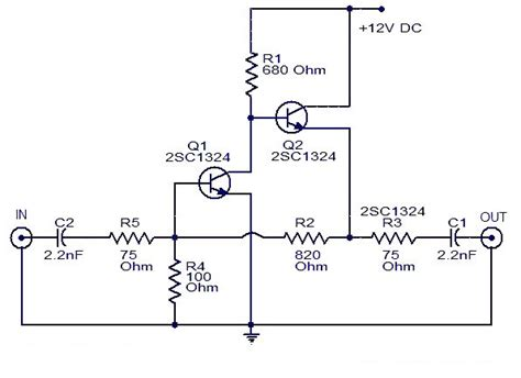 Wiring Schematic Diagram Cable Amplifier With