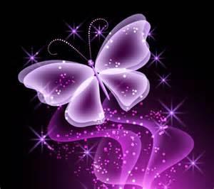 Neon Butterfly Butterflies & Animals Background
