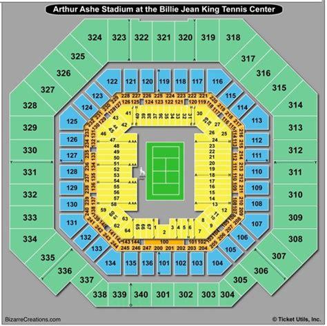 arthur ashe stadium seating chart seating charts