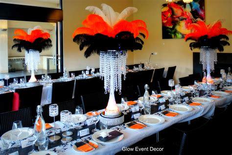 Black White And Orange Wedding Decorations Image New