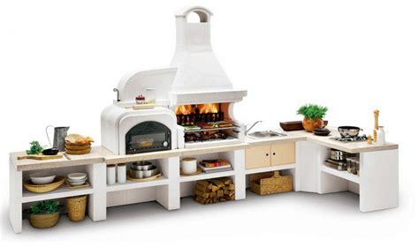 Barbecue componibile Malibu 2 a gas legna e carbonella