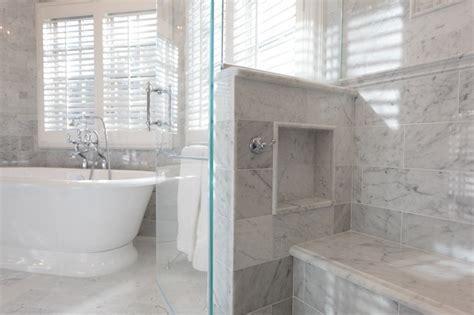 seat niche   shower marble master bath