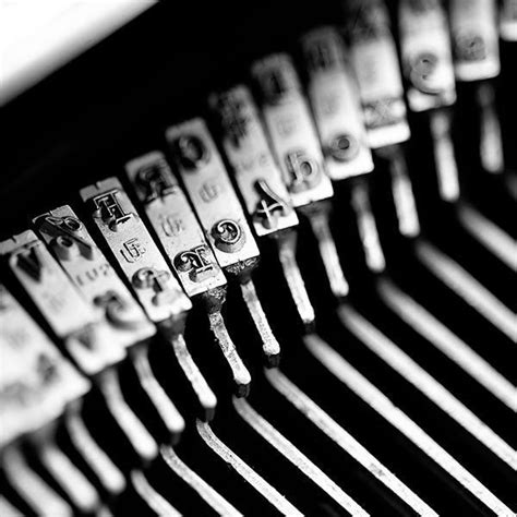 black and white vintage typewriter macro letters 8 x 12 still photography abstract macro letterpress 4x4 44059
