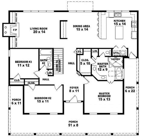 three bedroom two bath house plans 654173 one 3 bedroom 2 bath country style house