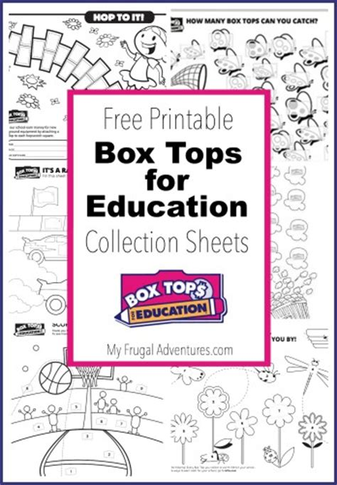 10 printable box tops for education collection sheets my frugal adventures