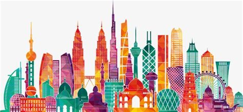 Colorful Pictures Famous Landmarks In Asia, World Tourism