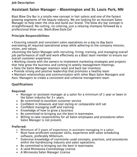 Cosmetologist Description For Resume by Pin By Ririn Nazza On Free Resume Sle Free Resume
