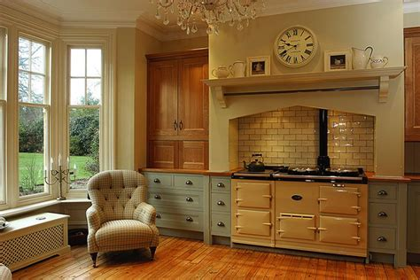 butter yellow kitchen cabinets so and that aga cooker kitchens aga 5005