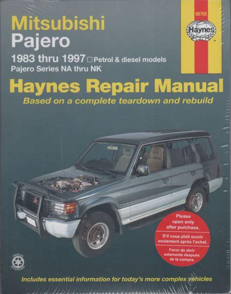 car engine repair manual 1993 mitsubishi montero user handbook mitsubishi pajero na nk repair manual 1983 1997 sagin workshop car manuals repair books