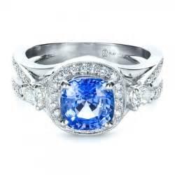 engagement rings blue custom blue sapphire engagement ring 1432 bellevue seattle joseph jewelry