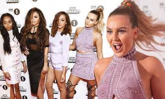 Little Mix's Perrie Edwards flashes abs in sexy embossed ...