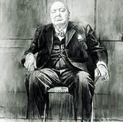 By Graham Sutherland Portrait Winston Churchill