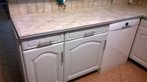 peindre le carrelage cuisine mur et plan de travail