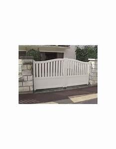 Portail 3 50m : portail aluminium limoges blanc standard semi ajoure ~ Premium-room.com Idées de Décoration