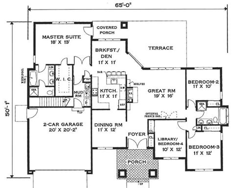 one storey house plan best 25 one story houses ideas on house