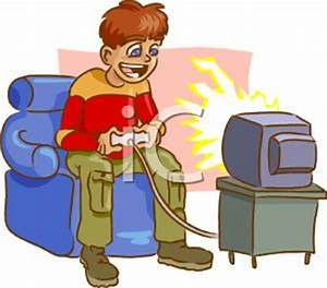 Kid Playing Video Games Clipart (36+)