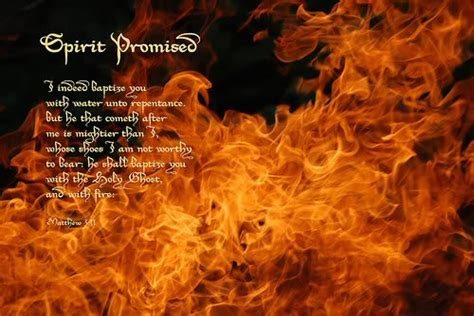 Jesus and the Holy Spirit Fire Photo with You Baptizes