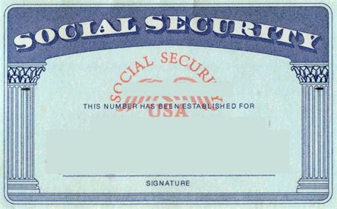 blank social security card template card templates
