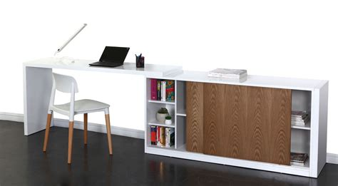 buffet bureau design modulable couleur frêne max miliboo