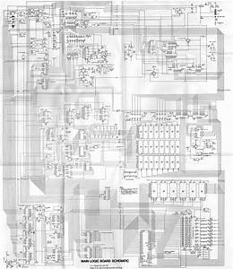 Apple 2 Main Logic Board Electronic Circuit Schematic