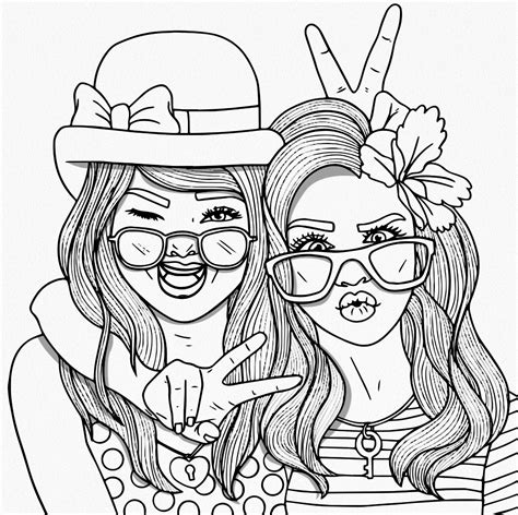 bestie stress illustration art people coloring pages