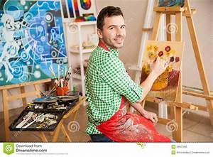 Handsome Male Artist At Work Stock Photo - Image: 59657080