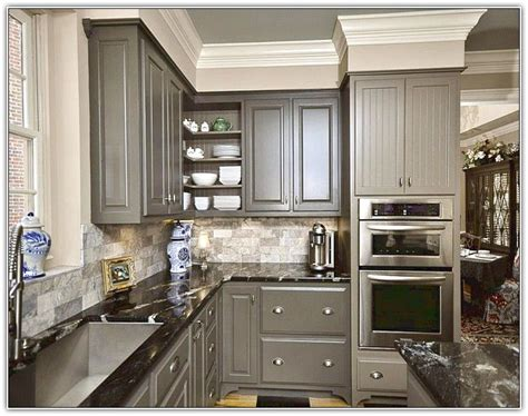 Gray Kitchen Cabinets Wall Color Dovetail And Agreeable